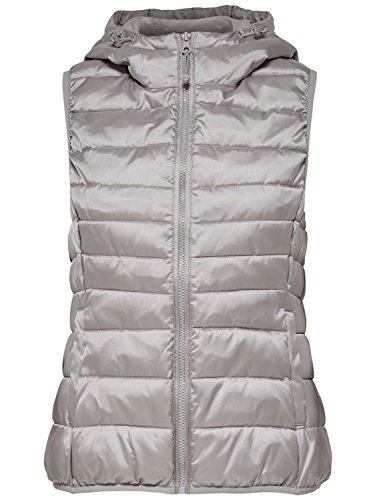 Only -  Gilet - Donna Argento M