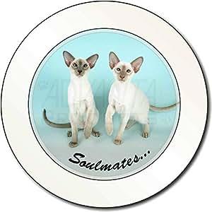 Siamesische Katzen 'Soulmates' Sentiment AutovignetteGenehmigungsinhaber Geschen