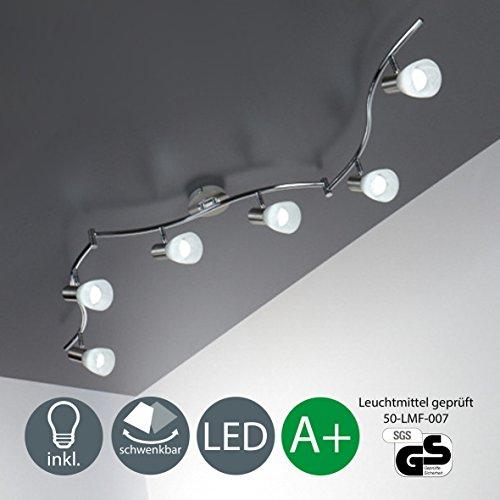 LED Deckenleuchte Schwenkbar inkl. 6 x 5W Leuchtmittel 230V E14 IP20 LED Deckenlampe Deckenstrahler Leuchte LED Deckenspot Wohnzimmerleuchte Deckenleuchte Schlafzimmerleuchte Spots LED Lampe