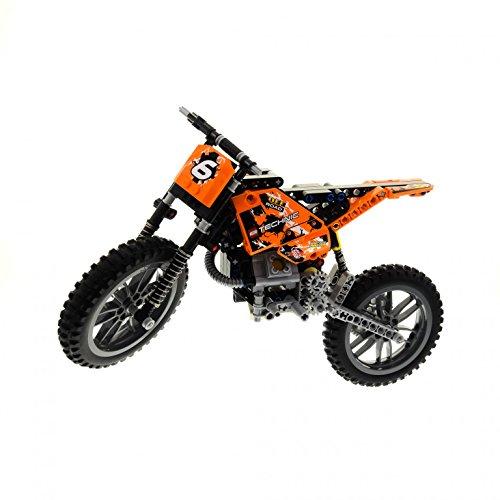 Preisvergleich Produktbild 1 x Lego Technic Set Modell Model Riding Cycle 42007 Moto Cross Bike orange Nr.6 Motorrad Technik incomplete unvollständig