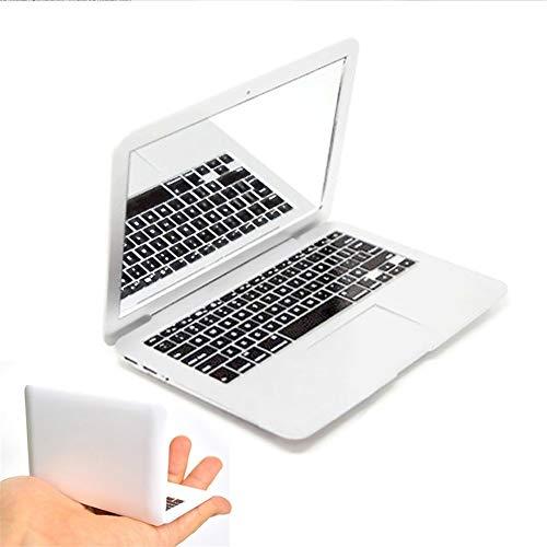 XLLF Wassereis Levin MirrorBook Air Silber Mini Roman Make-up MirrorBook Air Spiegel für Apple MacBook Shaped Maquiagem Cosmetic Beauty (Color : White) Apple Spiegel