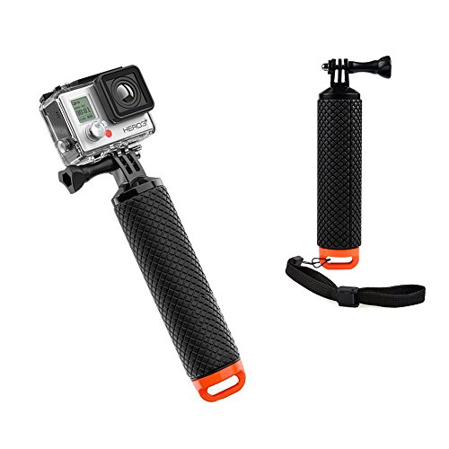 MyArmor Waterproof Floating Hand Grip Tripod Stick for Gopro Hero 5/ Gopro Hero 3+ 4 Session 3 - Handle Mount Accessories and Water Sport Pole for GeekPro 3.0 and ASX Action Pro Cameras Action Camera Accessories Test