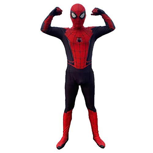 POIUYT Erwachsene Männer Und Kinder Skinny Spider-Man Heimatstadt Mit Abnehmbarer Maske Split 3D-Druck Cosplay Halloween Geburtstagsparty Avengers Held Anzug Lycra,Adult-S