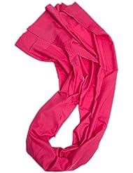 Prettystern - 230cm Seitlich Satin-Effekt 100% Wolle unifarbe Pashmina Stola - Farbwahl