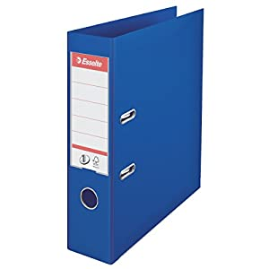 Esselte 811350 No. 1 Power Lever Arch File A4 75 mm - Blue, Pack of 10