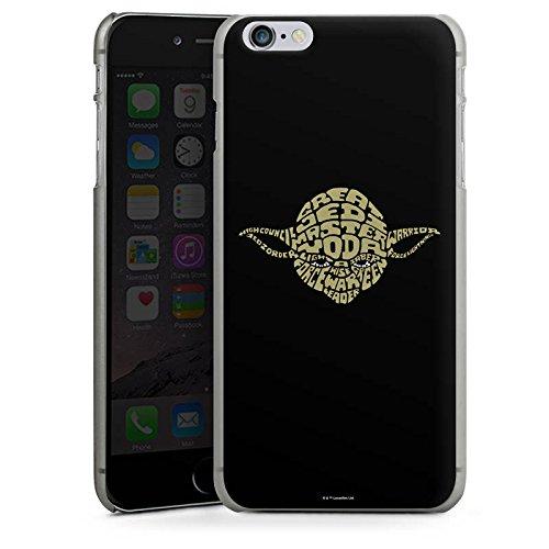 Apple iPhone 4s Hülle Premium Case Cover Star Wars Merchandise Fanartikel Yoda Typo Hard Case anthrazit-klar