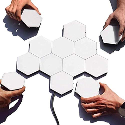Ellyeall DIY Quantum Lichter Magnet Hexagon Kreative Geometrische Montage LED Nachtlicht Raumdekor Boutique Waben Lichter Modulare Beleuchtung,16pcs -
