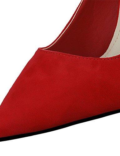 WSS 2016 Chaussures Femme-Extérieure / Bureau & Travail / Soirée & Evénement-Noir / Vert / Rouge / Argent / Gris / Fuchsia-Talon Aiguille-Talons / red-us6.5-7 / eu37 / uk4.5-5 / cn37