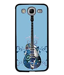 PrintVisa Designer Back Case Cover for Samsung Galaxy Mega 5.8 I9150 :: Samsung Galaxy Mega Duos 5.8 I9152 (Artistic Design Of Guitar In Blue)