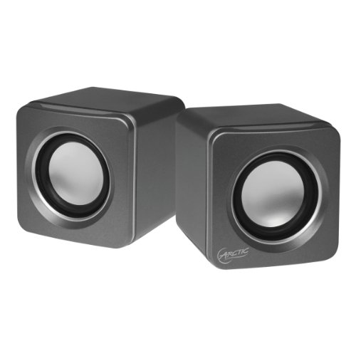 Arctic S111 - Altavoces para PC (USB, 2.0, 3.5 mm) color plata