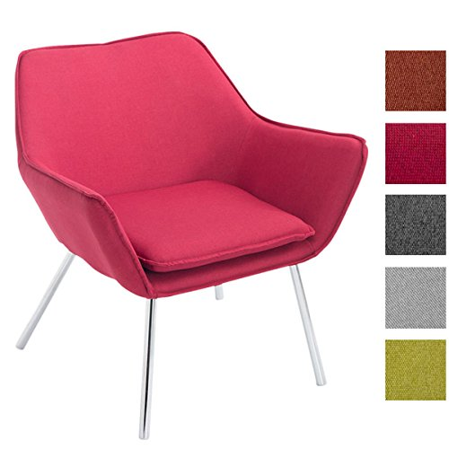 CLP Design Edelstahl Lounge-Sessel CARACAS - Stoffbezug