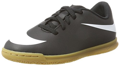 Nike Bravata II IC, Scarpe da Calcetto Indoor Unisex-Adulto, Nero White/Black 001, 38.5 EU