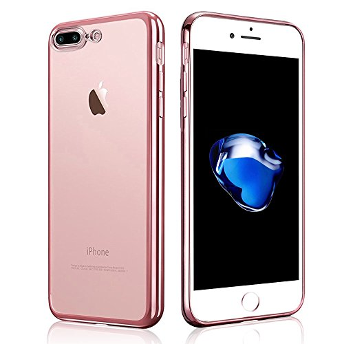 iPhone 7 Plus Custodia , Ubegood iPhone 7 Plus Case Bumper [Shock-Absorption] Soft TPU Silicone Case Protector Cover per iPhone 7 Plus