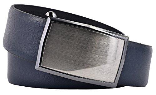 LLOYD Herren Gürtel Ledergürtel mit Automatikschließe 35 mm marine Herrengürtel (90 cm)