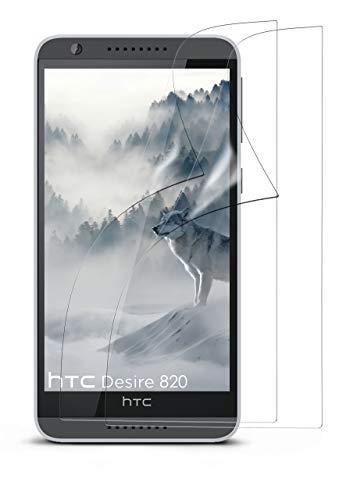moex 2X HTC Desire 820 | Schutzfolie Klar Bildschirm Schutz [Crystal-Clear] Screen Protector Display Handy-Folie Dünn Bildschirmschutz-Folie für HTC Desire 820 Bildschirmfolie