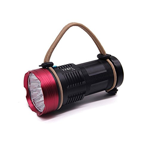 10x CREE XM-L T6 LED Linterna recargable para acampada y excursión 10000 lumenes,Super brillante LED Torch Flashlight