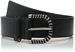 Nine West Women's Casual Panel with Wrapped Buckle Belt, Black, Medium