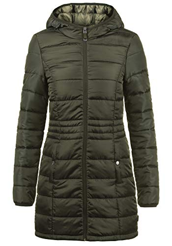 VERO MODA Palina Damen Winter Jacke Mantel Parka Steppmantel Winterjacke gefüttert mit Kapuze, Größe:S, Farbe:Peat