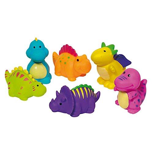 6 Bunte fröhliche Dinosaurier-Spritztiere
