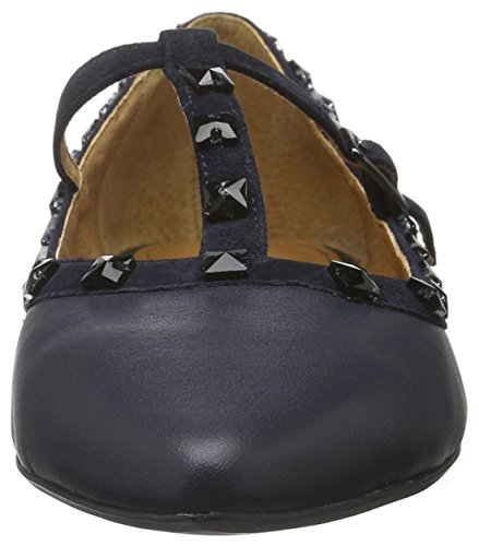 Belmondo Damen 703535 03 Durchgängies Plateau Ballerinas Blau (Marino)