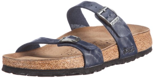 Birki Tahiti 506323 Damen Sandalen/Fashion-Sandalen Blau (SHINY CHECK BLUE)