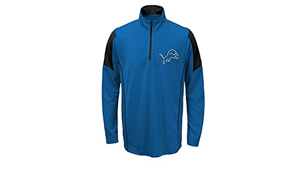 e0ed4b28874 Outerstuff Detroit Lions Youth NFL Lightweight 1 4 Zip Pullover Long Sleeve  Shirt  Amazon.co.uk  Sports   Outdoors