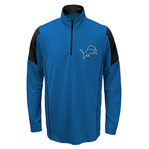 Detroit Lions Youth Kinder NFL Lightweight 1/4 Zip Pullover Long Sleeve Shirt (Lion Jacke Kinder)