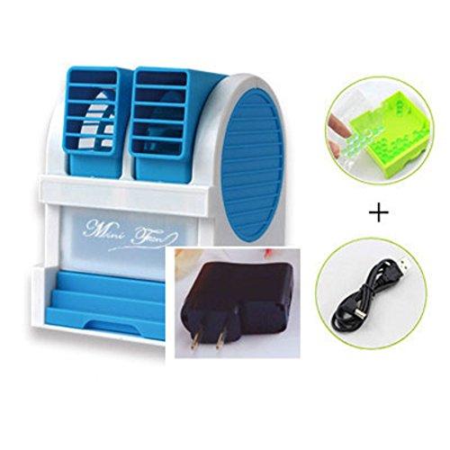SL&LFJ Mini Tower Fan,3 ruhige Geschwindigkeit und Modi Glatt oszillierende bladeless Air Conditioner Fan Ruhig USB-Zuhause und im Büro Dual Clips Fan Stand-J (Air Conditioner Fan Motor)