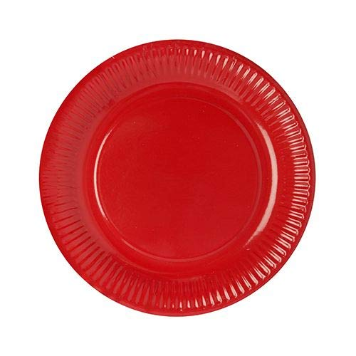 Papstar Pappteller / Einwegteller rot (50 Stück) rund, ø 23 cm aus 100% Frischfaserkarton, für Grillfest, Geburtstag, Buffet oder Party, #11977 (Rot Party Pappteller)