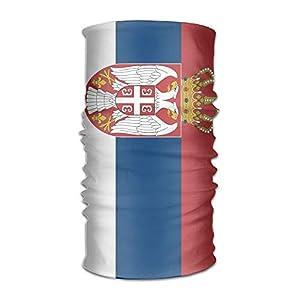 Not afraid Serbian Flag Unisex Outdoor Sport Scarf Headbands Bandana Mask Neck Gaiter Head Wrap Sweatband Headwear