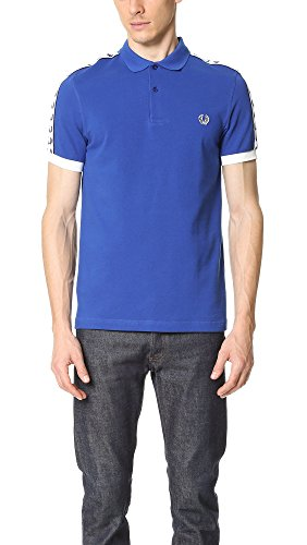 Fred Perry Taped Pique Shirt Regal, Polo Blau