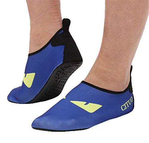 Fortunings Jds Unisexe Séchage Rapide Des Chaussettes De Plongée Pour Adultes Chaussures De Plongée Summer Seaside Sports Nautiques Chaussures De Plage Antidérapantes Bleu