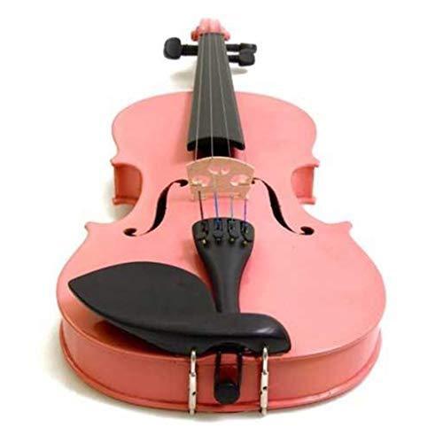 Violini Strumenti a Corda Bianco Mogano Universale per Adulti e Bambini Principianti Rosa (Color : 4/4)