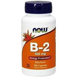 Now Foods Vitamin B-2 Riboflavin 100 Kapseln, 100mg