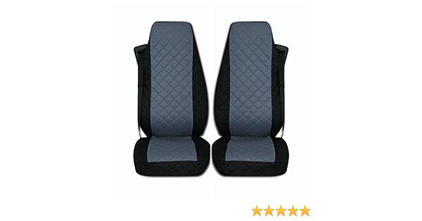 Texmar Lkw Sitzbezüge Passend Für Mercedes Benz Actros Giga Space Mp4 Ab 2015 Schwarz Grau 2 Stück Auto
