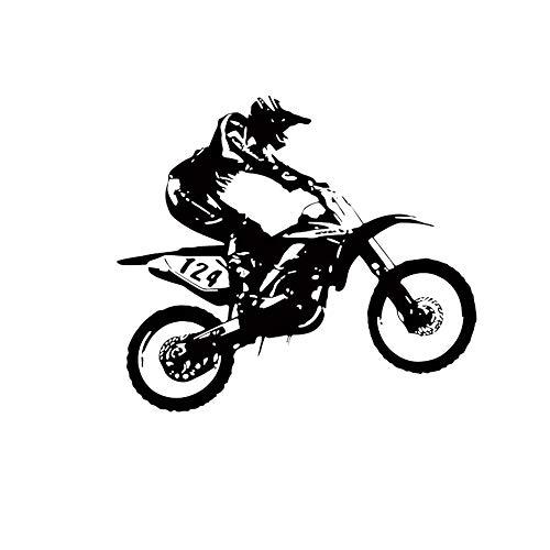 Matthew00Felix Dirt Bike Racing Biker Extreme Sport-Wand-Aufkleber kreativer Wand-Kunst-Dekor (Cool Dirt Bike Kunststoff)