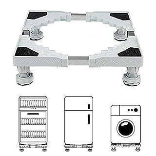 Miyare Waschmaschine Sockel Untergestell für Kühlschrank Verstellbare Sockel für Trockner , Waschmaschine und Kühlschrank(50-66CM)