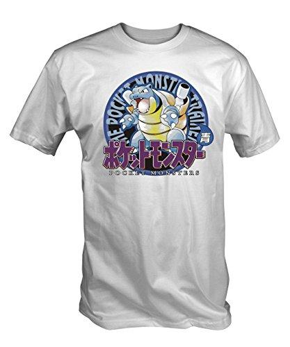 Pokemon Origins Blastoise T Shirt (Men's White S - XXL)
