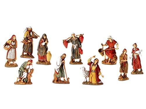 BERTONI 10SCHÄFERHUND Figur in historischen Kostüme, Holz, mehrfarbig, 6,5x 30x 30cm