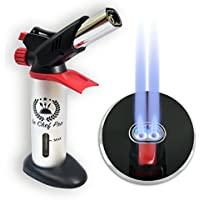 Double Flame GF-8761 V2.0 Kitchen Blow Torch for Creme Brulee