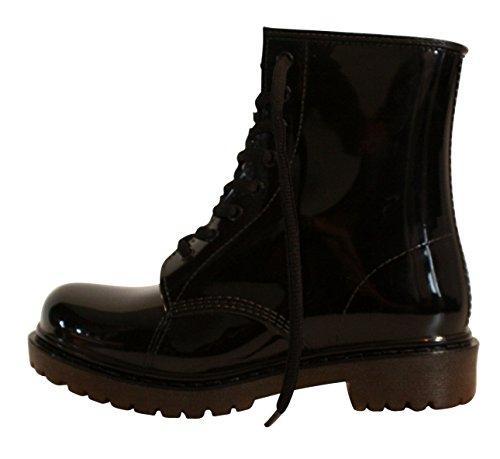 Erogance Damen Gummistiefel Regen Stiefel Stiefeletten Boots AG01/EU 45
