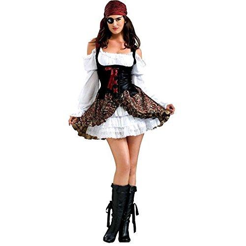 Piratenbraut Gr. M (40/42) Buccaneer Babe Karneval Fasching Verkleidung Mottoparty (Kostüme Buccaneer Babe)