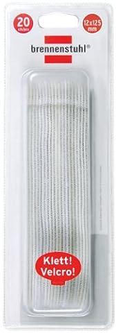 Brennenstuhl 1164350 Attache-câble velcro 10 x 125 Blister de 20 pièces Blanc