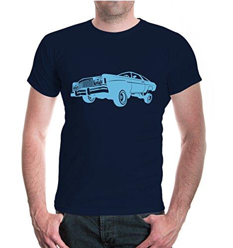buXsbaum® T-Shirt Jumpcar Navy-Skyblue