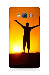 Amez designer printed 3d premium high quality back case cover for Samsung Galaxy A7 (Sunshine)