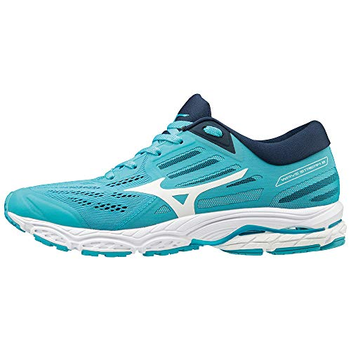 Mizuno Women Wave Stream 2 Neutral Running Shoe Running Shoes Turquoise - Black 6