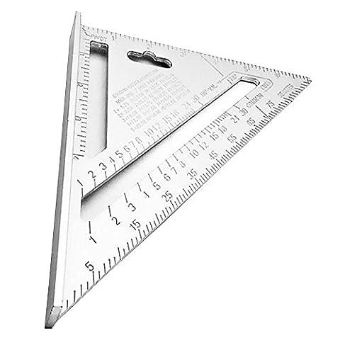 Huatuo® 7inch silber aluminiumlegierung geschwindigkeit square dachdecker - dreieck winkel geo - versuch square zimmermanns messung (Geschwindigkeit Winkel)