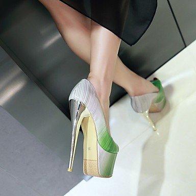 LvYuan Sandali-Matrimonio Formale Serata e festa-Comoda Club Shoes-A stiletto-Vernice-Marrone Verde Rosa Rosso Green