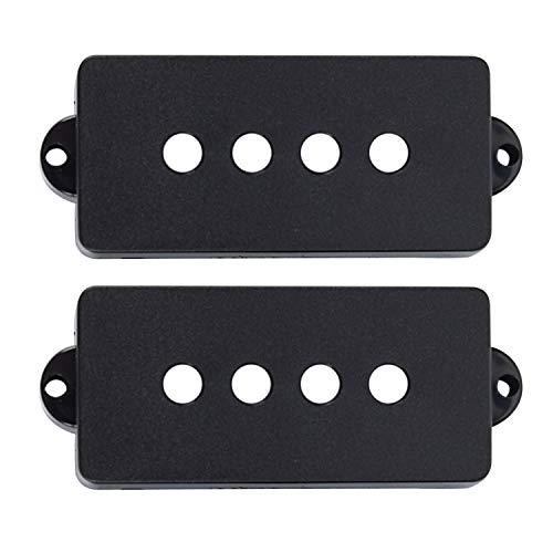 REFURBISHHOUSE 2 Pezzi per Chitarra elettrica PB P-Bass Pickup Covers 28.5MM Space Bianco Grande Ricambio Nero