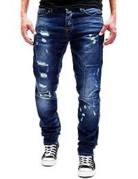 991f647a7b MERISH Hombres Vaqueros para Hombre Pantalones Destruido Costura Decorativa  hasta Moderno y Casual Modell J2082